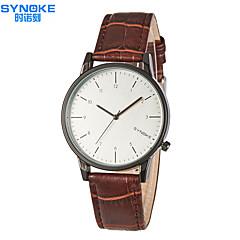 preiswerte Tolle Angebote auf Uhren-SYNOKE Herrn Armbanduhr Wasserdicht Leder Band Freizeit / Kleideruhr Schwarz / Braun / Edelstahl