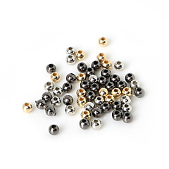 beadia 300pcs 4mm round acryl CCB spacer losse kralen goud&gunmetal&rhodium plated (1.2mm hole)