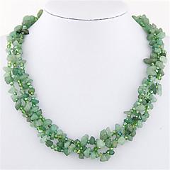 preiswerte Halsketten-Damen Halsketten - Harz Böhmische, Europäisch, Modisch Handgemacht Blau, Rosa, Weiß / Schwarz Modische Halsketten Schmuck Für Party, Alltag, Normal