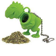 ieftine -1buc silicon dinozaur formă de ceai infuzor vrac frunze de sita de silicon pe bază de plante difuzor filtru