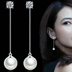 preiswerte Ohrringe-Damen Perle Tropfen-Ohrringe - Perle, Künstliche Perle Simple Style, Elegant, Brautkleidung Silber Für Hochzeit / Party / Alltag