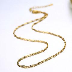 お買い得  ネックレス-チェーンネックレス  -  ゴールドメッキ ファッション ゴールデン ネックレス 用途 パーティー, 日常, カジュアル