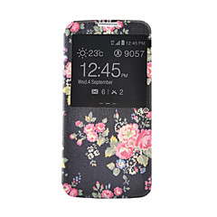 tanie Galaxy S4 Mini Etui / Pokrowce-Na Samsung Galaxy Etui Etui na karty / Portfel / Z podpórką / Z okienkiem / Flip Kılıf Futerał Kılıf Kwiat Skóra PU SamsungS6 / S5 Mini /