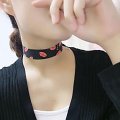 Ожерелье Ожерелья-бархатки Бижутерия Для вечеринок / Повседневные Модно Ткань Черный 1шт Подарок