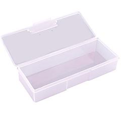 pinpai unghii livrările de artă en-gros cutii de instrumente de depozitare transparent dreptunghiular