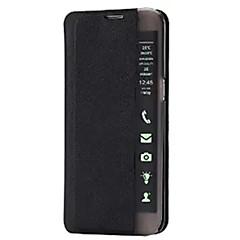 Χαμηλού Κόστους Galaxy A5 Θήκες / Καλύμματα-Για Samsung Galaxy Θήκη με βάση στήριξης / με παράθυρο / Αυτόματη αδράνεια/αφύπνιση / Ανοιγόμενη / Εξαιρετικά λεπτή tok Πλήρης κάλυψη tok