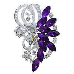 cheap Women's Jewelry-Women's Brooches - Rhinestone Vintage, Fashion Brooch Jewelry Purple / Blue For Wedding / Party / Special Occasion / Birthday / Gift / Daily
