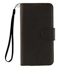 Voor LG hoesje Kaarthouder / Portemonnee / met standaard / Flip hoesje Volledige behuizing hoesje Effen kleur Hard PU-leer LGLG K7 / LG