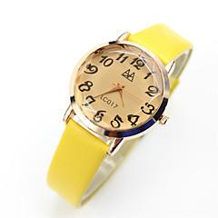 preiswerte Damenuhren-Damen Armbanduhr Armbanduhren für den Alltag Leder Band Retro / Freizeit / Modisch Schwarz / Blau / Rosa