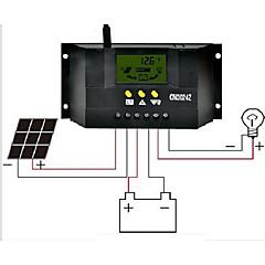 abordables Mandos Solares-cm3024z 30a 12v / 24v LCD pantalla de cristal líquido regulador solar