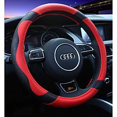 abordables Volantes y Accesorios-Fundas para volante piel genuina 38cm Rojo / Beige / Café Para Universal