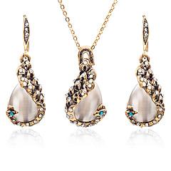 hesapli Takı Setleri-Kadın's Opal Takı Seti - Zirkon Damla Bayan, Tatlı, Moda Dahil etmek Altın Uyumluluk Günlük Bikini / Kolczyki