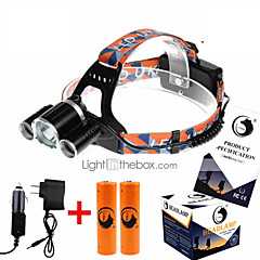 お買い得  ヘッドランプ-U'King ZQ-X821 ヘッドランプ LED 3500 lm 4.0 照明モード バッテリー&チャージャー付き 充電式 / 小型 / ハイパワー キャンプ / ハイキング / ケイビング / 狩猟 / 釣り