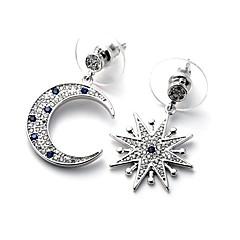 Dames Druppel oorbellen Modieus Luxe Sieraden wanverhouding Koper Gesimuleerde diamant Stervorm Sieraden Voor Dagelijks Causaal