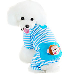 Cat Dog Jumpsuit Pajamas Dog Clothes Cute Casual/Daily Cartoon Yellow Blue Pink Costume For Pets