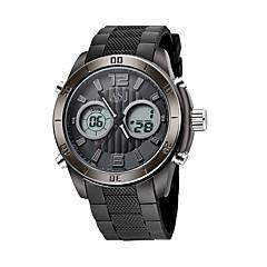 ASJ Férfi Sportos óra digitális karóra Japán Digitális Japán kvarc LCD Compass Naptár Vízálló Két időzóna Fénylő Stopperóra Világítás PU