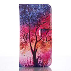 halpa Galaxy S4 Mini kotelot / kuoret-Etui Käyttötarkoitus Samsung Galaxy Samsung Galaxy S7 Edge Korttikotelo Lomapkko Tuella Suojakuori Puu Pehmeä PU-nahka varten S7 edge S6