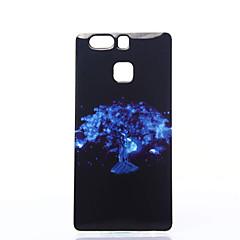Varten Huawei kotelo / P9 / P9 Lite Iskunkestävä / Pölynkestävä / IMD Etui Takakuori Etui Puu Pehmeä TPU HuaweiHuawei P9 / Huawei P9 Lite