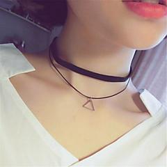 Naisten Choker-kaulakorut Riipus-kaulakorut Tattoo Choker Round Shape Square Shape Star Shape Triangle Shape Metalliseos Yksinkertainen