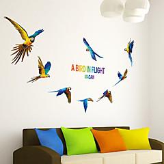 baratos -Animais Wall Stickers Autocolantes de Aviões para Parede Autocolantes de Parede Decorativos,PVC Material ReposicionávelDecoração para