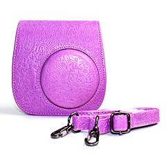 abordables Alarmas y Seguridad-caja de cuero de la PU con la correa de hombro desmontable y para Fujifilm Instax Mini 8/8 + cámara instantánea