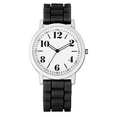 preiswerte Damenuhren-Damen Armbanduhr Armbanduhren für den Alltag Silikon Band Charme / Freizeit / Modisch Schwarz / Weiß / Blau