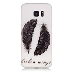 olcso Galaxy S3 tokok-Case Kompatibilitás Samsung Galaxy Samsung Galaxy S7 Edge Foszforeszkáló Minta Fekete tok Tollak Puha TPU mert S8 Plus S8 S7 edge S7 S6