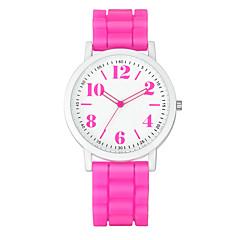 preiswerte Tolle Angebote auf Uhren-Damen Armbanduhr Quartz Armbanduhren für den Alltag Silikon Band Analog Charme Freizeit Modisch Schwarz / Weiß / Blau - Schwarz / Weiß Regenbogen Leicht Grün