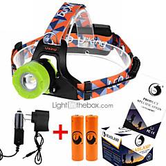 お買い得  ヘッドランプ-U'King ZQ-X8001 ヘッドランプ ヘッドライト LED 2000 lm 3 モード LED バッテリー&チャージャー付き ズーム可能 焦点調整可 充電式 小型 ハイパワー コンパクトデザイン 緊急 キャンプ/ハイキング/ケイビング 日常使用 サイクリング 狩猟