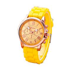 Damskie Modny Zegarek na bransoletce Kwarcowy Na codzień Guma Pasmo kamuflaż Czarny Biały Czerwony Pomarańczowy Brązowy Zielnony Różowy