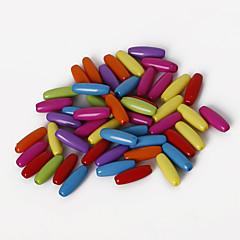 beadia válogatott színes akril gyöngyök 4x11mm ovális alakú műanyag laza gyöngyök (50g / kb 400pcs)