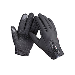 قفازات الدراجة قفازات التزلج للرجال اصبع كامل الدفء مضاد للانزلاق كنفا الصوف التزلج