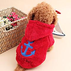 Gatto Cane Felpe con cappuccio Abbigliamento per cani Romantico Tenere al caldo Marinaro Bianco Grigio Rose Rosso Blu Costume Per animali