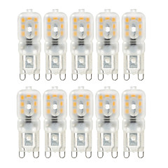 ywxlight® 4w g9 led bi-pin lights 14smd 2835 400lm quente / frio branco dimmable ac220 / 110v 10pcs