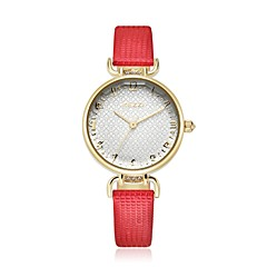 preiswerte Herrenuhren-KEZZI Damen Armbanduhr Quartz Japanischer Quartz Schlussverkauf PU Band Analog Blume Freizeit Modisch Schwarz / Blau / Rot - Rot Blau Rosa