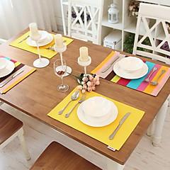 직사각형 솔리드 줄무늬 식탁매트 , 100% 면 자료 호텔 다이닝 테이블