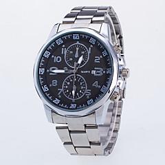 お買い得  メンズ腕時計-男性用 ドレスウォッチ ホット販売 / / ローズゴールドめっき / 合金 バンド カジュアル シルバー
