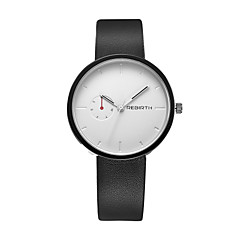 REBIRTH® Unisex Simple Fashion Analog Display PU Leather Strap Quartz Wrist Watch
