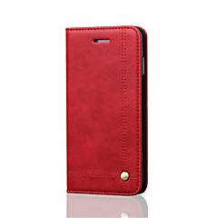 Назначение iPhone 8 iPhone 8 Plus iPhone 6 iPhone 6 Plus Чехлы панели Бумажник для карт Кошелек Защита от удара со стендом Флип Магнитный