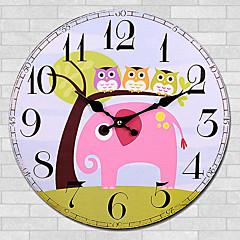 preiswerte Uhren-Modern/Zeitgenössisch Anderen Wanduhr,Kreisförmig Anderen 30*30cm*3cm Drinnen Uhr
