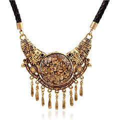 preiswerte Halsketten-Damen Quaste Anhängerketten - Leder, Harz Personalisiert, Quaste, Retro Golden Modische Halsketten Schmuck Für Party, Alltag, Normal