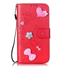 Для Кейс для iPhone 7 / Кейс для iPhone 6 Кошелек / Бумажник для карт / Защита от удара / Флип Кейс для Чехол Кейс для С сердцем Твердый