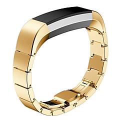 Черный / Роуз / Золотистый / Серебристый Нержавеющая сталь / Металл Спортивный ремешок / Современная застежка Для Fitbit Смотреть 10mm
