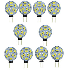 abordables Ampoules LED-10pcs 1.5W 150-200 lm G4 LED à Double Broches T 9 diodes électroluminescentes SMD 5730 Décorative Blanc Chaud Blanc Froid DC 12V