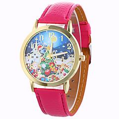 preiswerte Damenuhren-Damen Modeuhr / Kleideruhr / Armbanduhr / PU Band Schneeflocke Schwarz / Weiß / Blau / Ein Jahr / SODA AG4