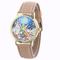 お買い得  大特価腕時計-女性用 ファッションウォッチ / ドレスウォッチ / リストウォッチ / PU バンド スノーフレーク柄 ブラック / 白 / ブルー / 1年間 / SODA AG4