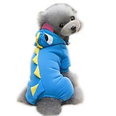 お買い得  猫の服-ネコ 犬 コスチューム セット ジャンプスーツ 犬用ウェア 動物 グリーン ブルー ピンク コットン コスチューム ペット用 男性用 女性用 コスプレ ハロウィーン