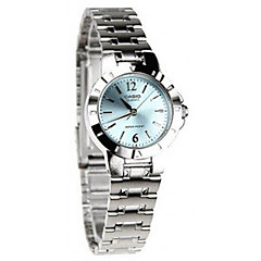 お買い得  大特価腕時計-女性用 リストウォッチ クォーツ 30 m ホット販売 / ステンレス バンド アナログ/デジタル カジュアル ファッション ドレスウォッチ シルバー - グリーン