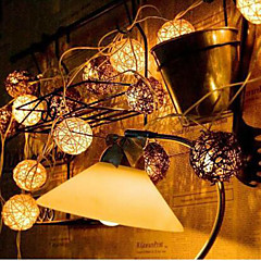 휴가 정원 풍경 램프 시리즈 10lamp 홀더의 새로운 주도 chinlon 빛 문자열