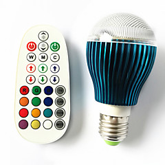 GU10 B22 E26/E27 LED Globe Bulbs A60(A19) 3 High Power LED 450 lm RGB RGB K Dimmable Sound-Activated Remote-Controlled AC 100-240 V